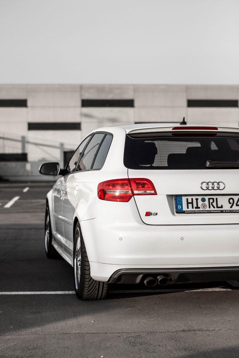 weißes Audi S3 Heck Automotive Fotograf Hannover
