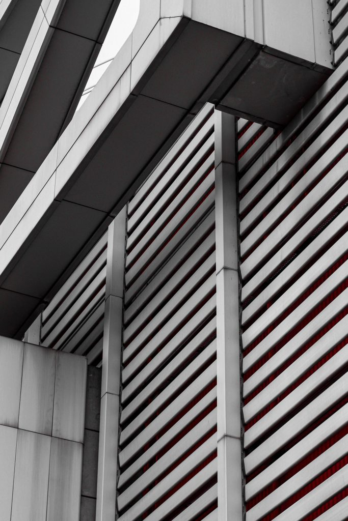 Monochrome Architektur Berlins