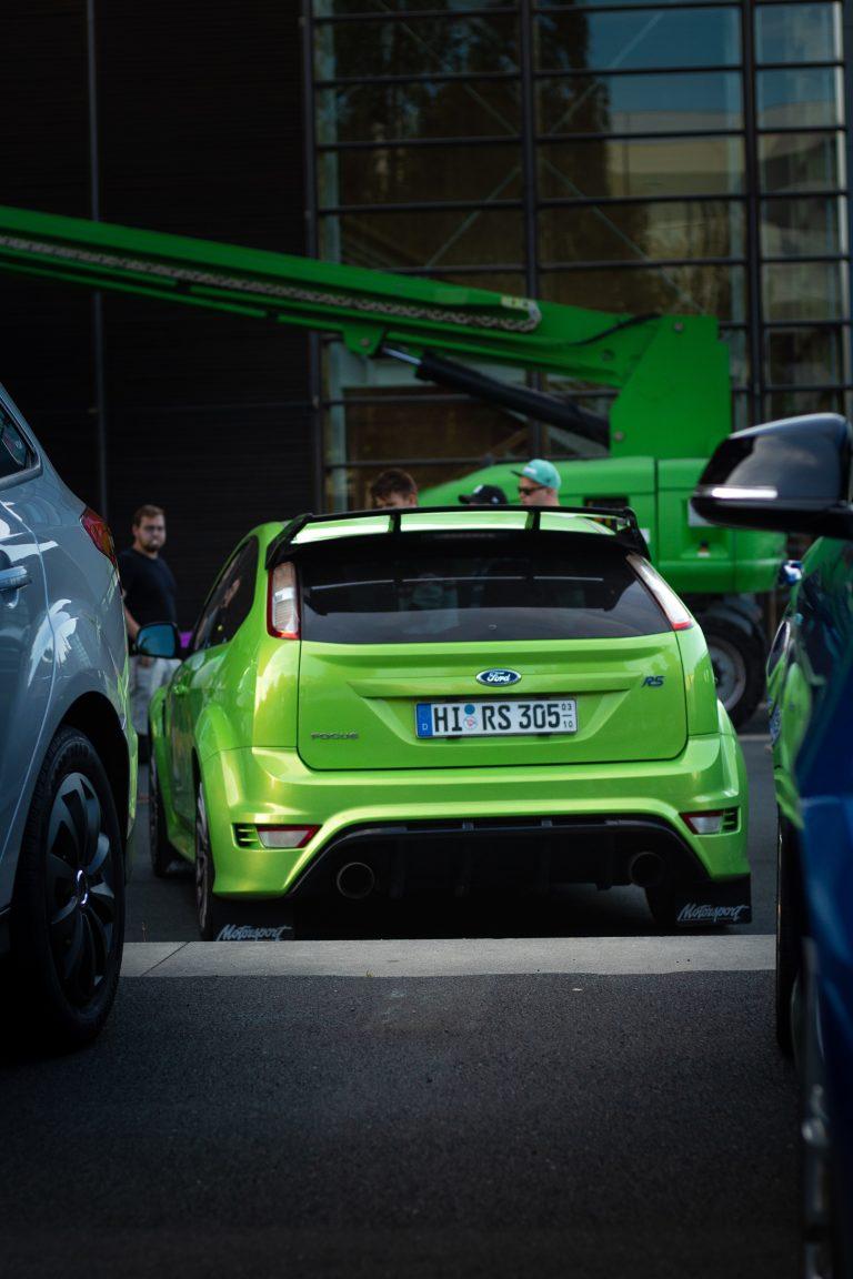 Grüner Ford Focus RS Automotive Fotograf Hannover