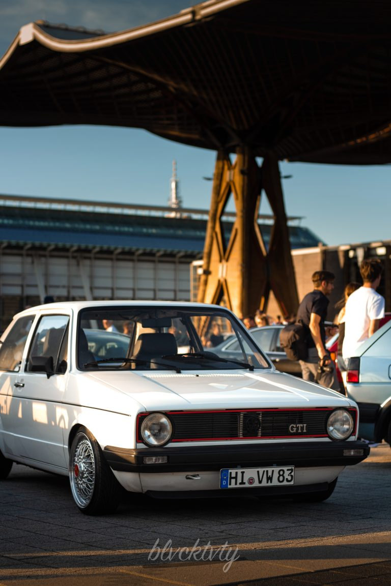 weißer VW Golf 1 GTI Automotive Fotograf Hannover