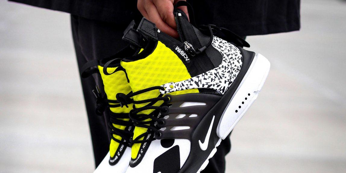 Acronym x Nike Air Presto Mid Yellow